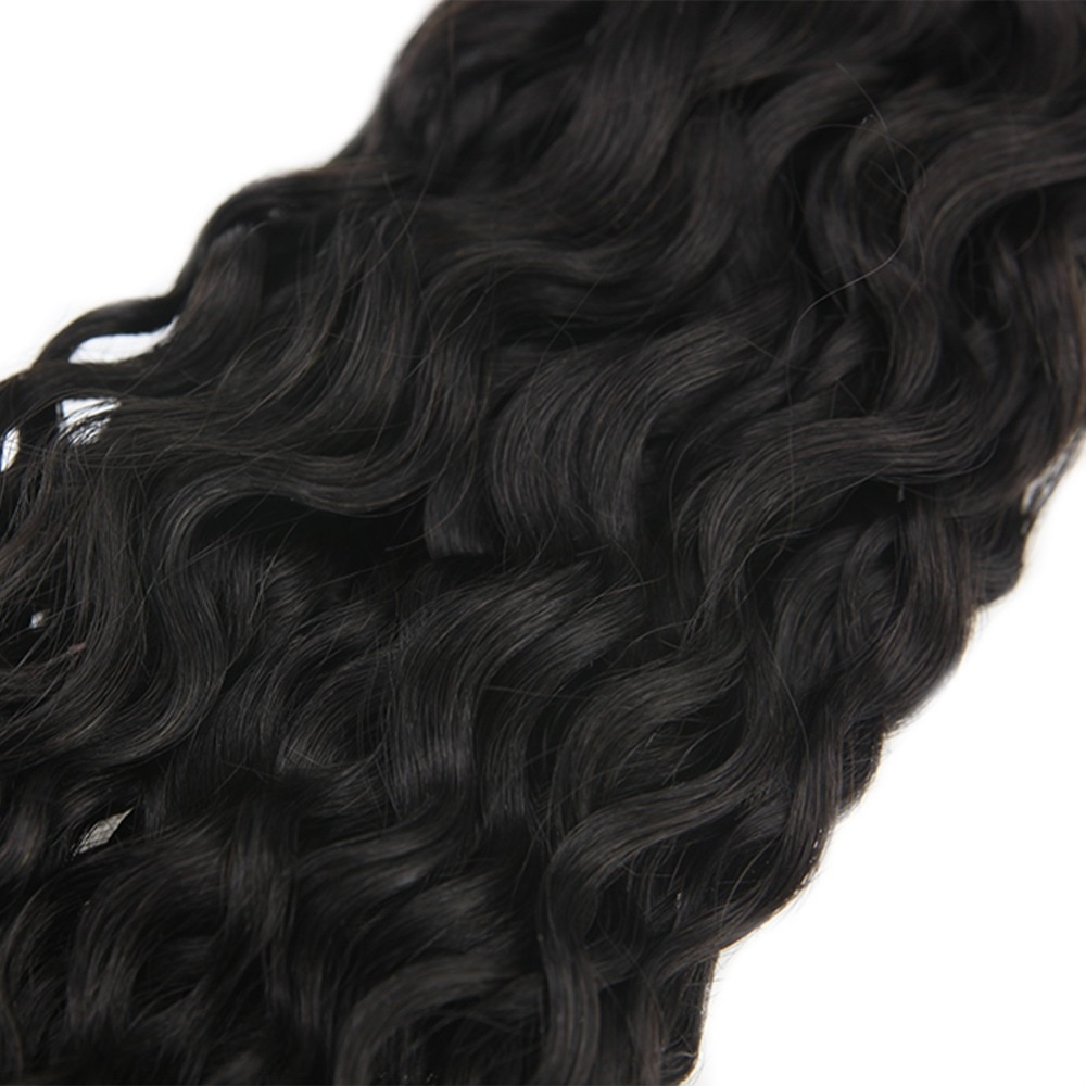 Black Wavy Tape-In Remy Human Hair Extensions Set