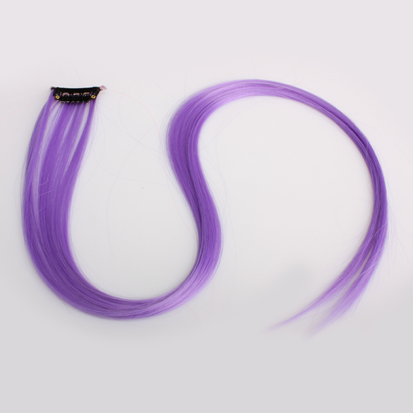 Purple Synthetic Hair Extensions Clip