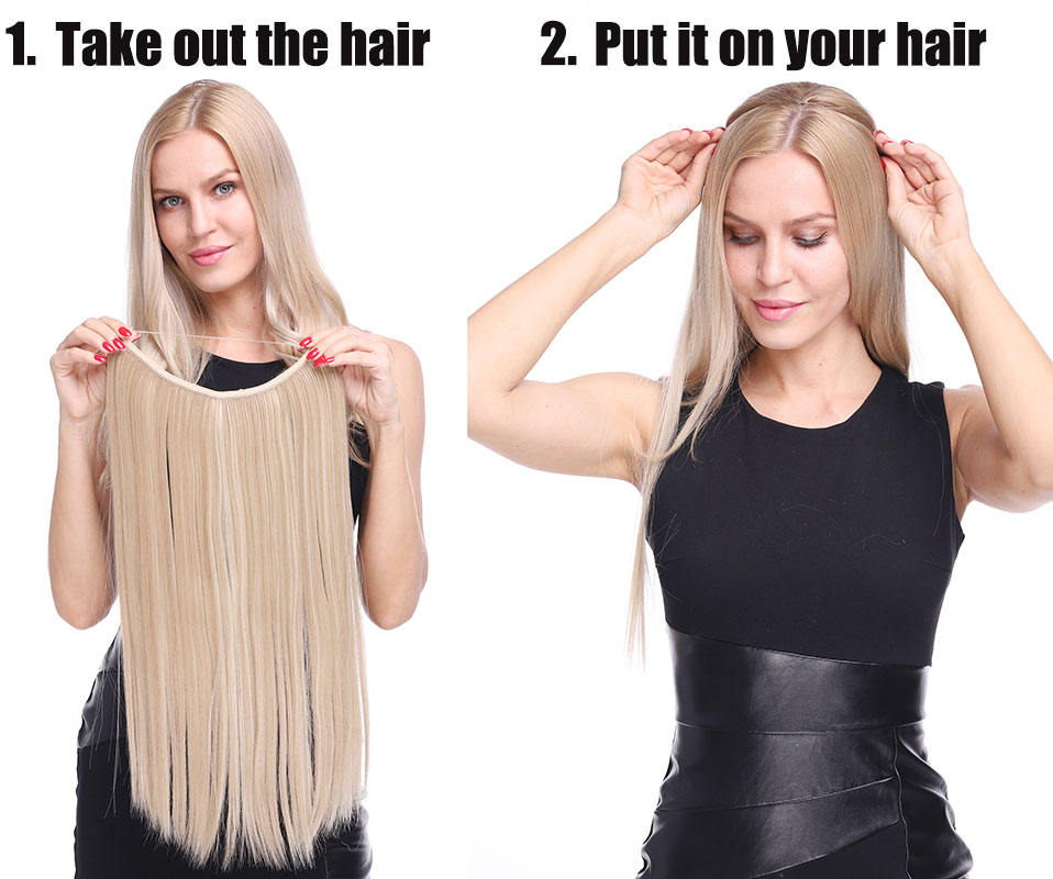 Long Synthetic Hair Extensions