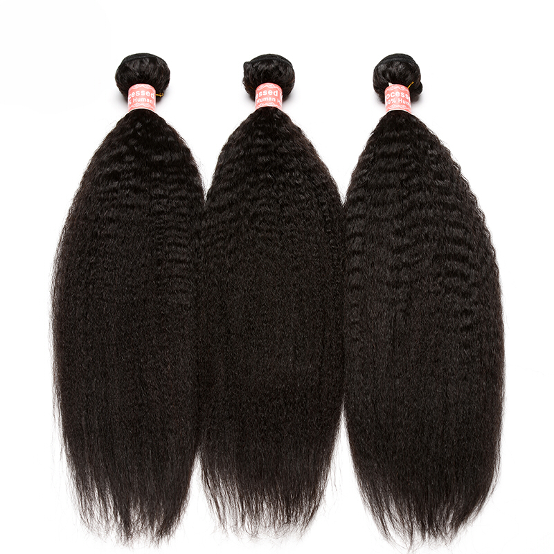 Kinky Straight Human Hair Extensions