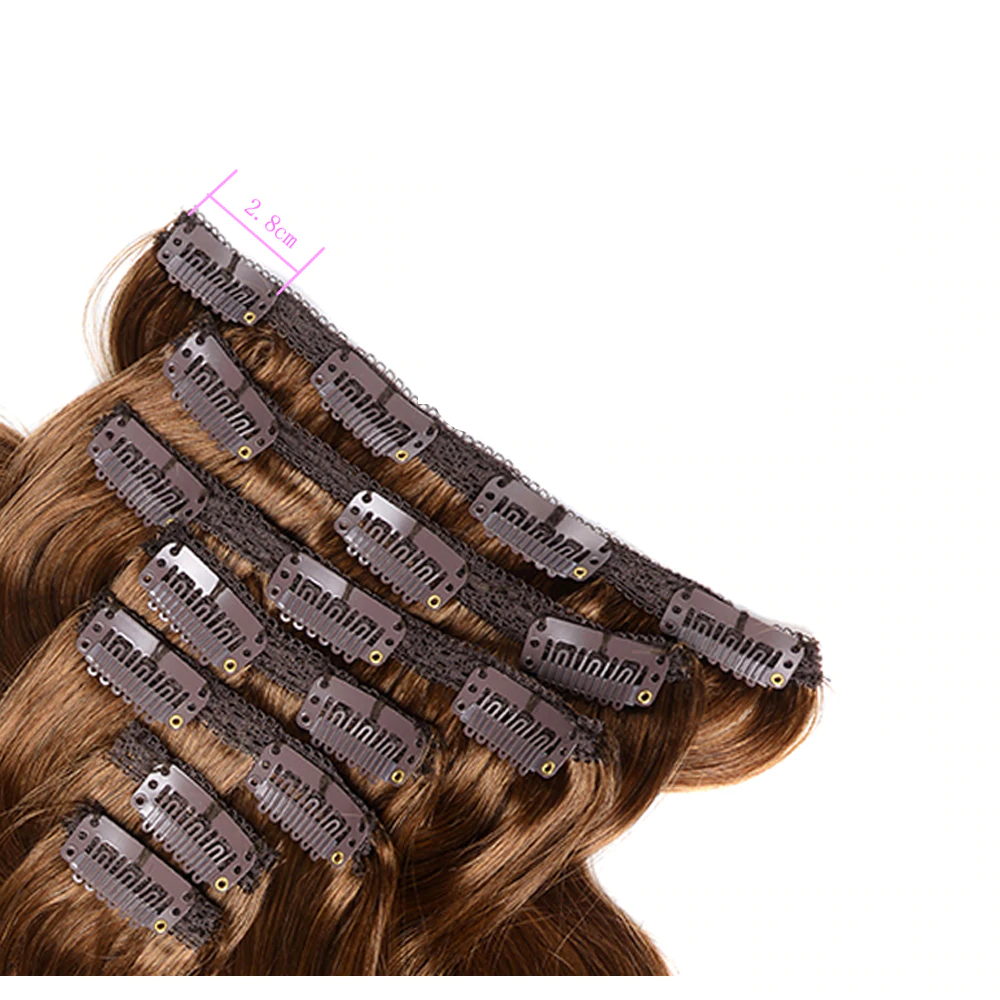 Black Body Wave Clip-In Remy Human Hair Extensions Set